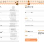 Semana vista agenda escolar de infantil